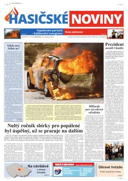 Hasičské noviny č. 8, 22. dubna 2016