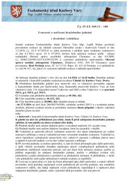 (dražební vyhláška) - č.j. 55 EX 209/13
