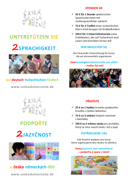 unterstützen sie 2sprachigkeit podpořte 2jazyčnost