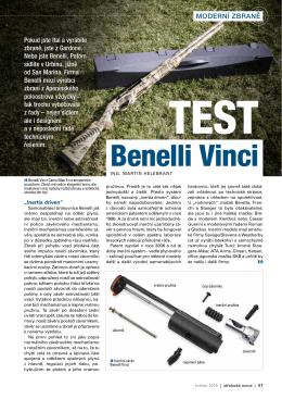 Benelli vinci - Střelecká Revue