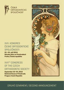 druhé oznámení / second announcement xvii. kongres české