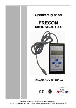 operátorský panel FRECON MINITERMINAL FIA-L