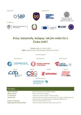 Krize, katastrofy, kolapsy: Jak jim může EU a Česko čelit?