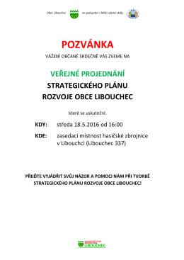pozvánka - Obec Libouchec