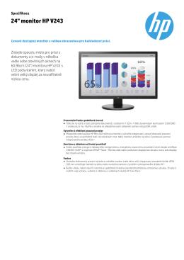 "24"" monitor HP V243"