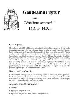 Propozice - FF UJEP