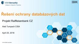 Řešení ochrany databázových dat - security