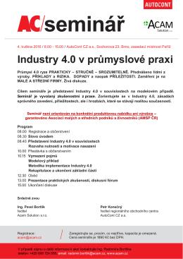 Industry 4.0 v průmyslové praxi - Asociace malých a středních