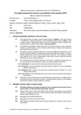 ZD_Provádění pozáručního servisu a pravidelných revizí systému