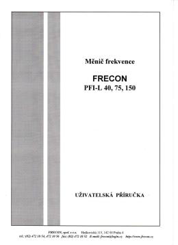 Návod k obsluze - frekvenční měnič FRECON PFI-L