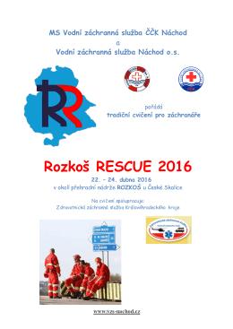 RR 2016 - Vodní záchranná služba ČČK Náchod