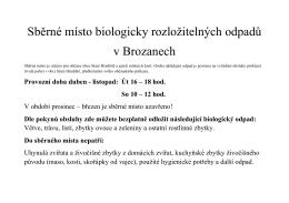 Sběrné místo bioodpadů Brozany