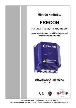 frekvenční měnič FRECON FIA