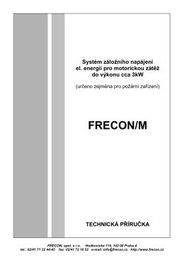 systém záložního napájení FRECON-M