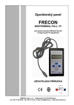 operátorský panel FRECON MINITERMINAL FIA-L/PI