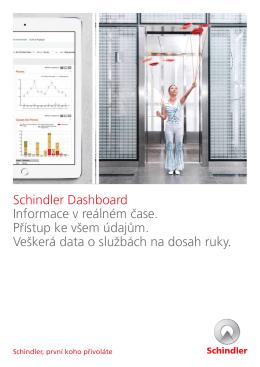 Schindler Dashboard Informace v reálném čase. Přístup ke všem