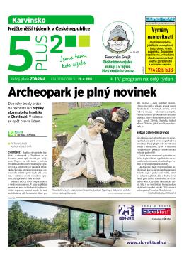 Archeopark je plný novinek