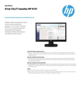 "47cm (18,5"") monitor HP V197"