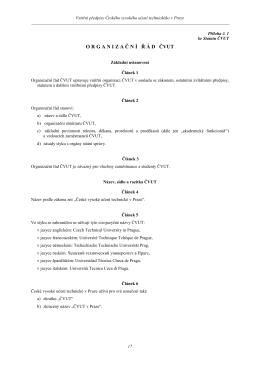 Příloha 1 Statutu: Organizační řád ČVUT