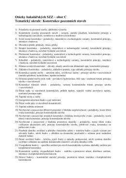 Otázky bakalářských SZZ – obor C Tematický okruh: Konstrukce