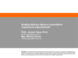 Prezentace - Jaromír Baxa, Michal Paulus