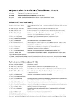 harmonogram master 2016 - Master 2015