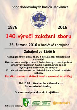 140.výročí založení sboru