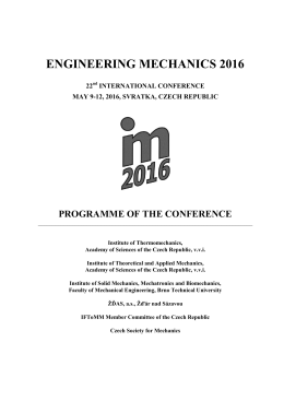 Programme - Engineering Mechanics