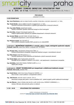 program konference - Top