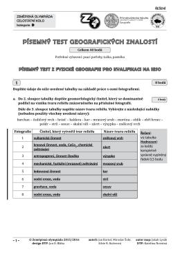 kategorie D test řešení