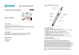 3D tiskové pero X4 Tools 2.0 Obj. č. 141 39 51