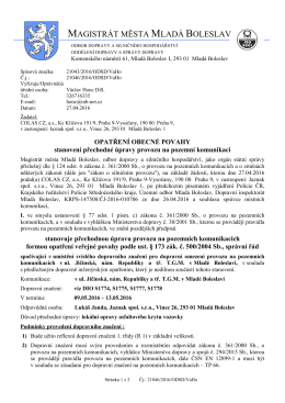 COLAS CZ - Jaznak - ul. Jičínská, TGM