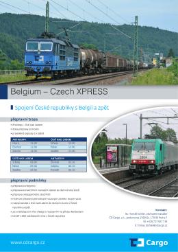 ČR získala první přímé železniční spojení s přístavem Antverpy