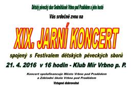 Koncert spolufinancuje Město Vrbno pod Pradědem a Základní