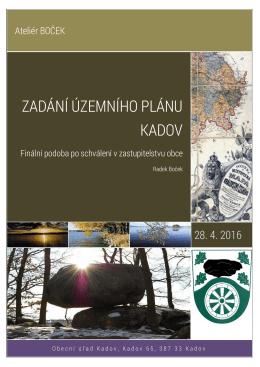 Schválení zadání územního plánu Kadov - duben 2016