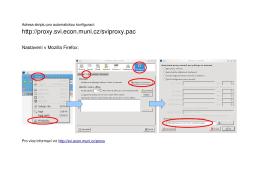 Nastavení proxy-serveru SVI