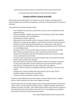 Zásady etického chování právníků.