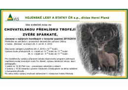 ulovené v režijních honitbách v lovecké sezóně 2015/2016