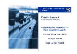 Automatizace v železniční dopravě