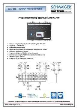 Programovatelný zesilovač AT50 SAW