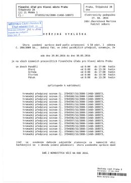 Finanční úřad pro hlavní město Prahu Štěpánská 28 111 21 PRAHA
