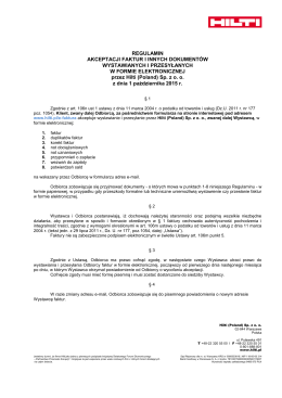 Regulamin korzystania z e-faktur 149,9kB