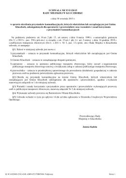 Uchwala Nr XVI/120/15 z dnia 30 wrzesnia 2015 r.