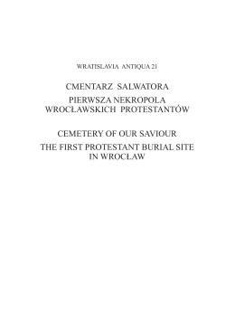 Spis treści / Contents - WRATISLAVIA ANTIQUA Studia z dziejów