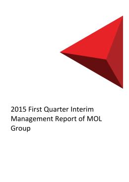 2015 First Quarter Interim Management Report of MOL Group