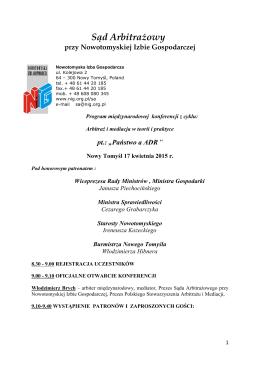Sąd Arbitrażowy przy Nowotomyskiej Izbie Gospodarczej