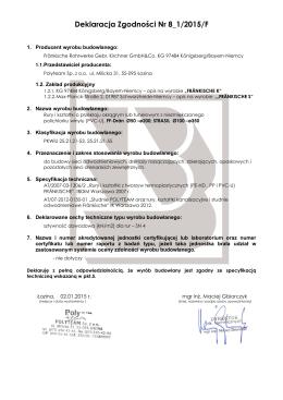 Deklaracja Zgodności Nr 8_1/2015/F