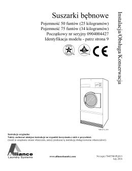 ostrzeżenie - Alliance Laundry Systems