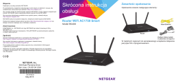 Router Wi-Fi AC1750 Smart model R6400 — skrócona