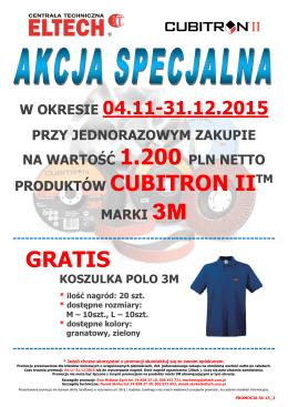 Promocja 36-15 produkty Cubitron II 3M - polo GRATIS